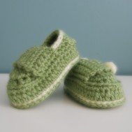 My very first pair of baby boots. Pattern by Hook Candy Crochet